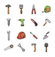 building icons set cartoon vector image vector image