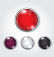 button web color glossy vector image vector image