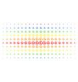 chargeback pound spectrum halftone grid vector image vector image