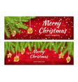 christmas banners x-mas new year flyers template vector image vector image