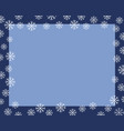 christmas border dark blue frame covered by white vector image vector image