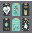 Christmas stickers for decoration vector image vector image