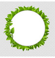 circle with green leafs vector image vector image