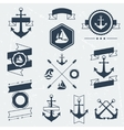 Collection of nautical symbols icons badges and vector image vector image