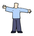 comic cartoon body with open arms mix and match vector image vector image