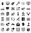 contact icons set simple style vector image vector image