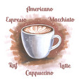 cup coffee in sketch og hand drawn vector image vector image