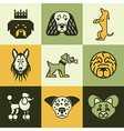 dogs logo icons vector image vector image