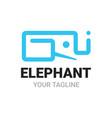 elephant g q i alphabets shape logo vector image vector image