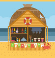 exotic beach bar vector image vector image