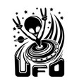 extraterrestrial alien flying in space vector image