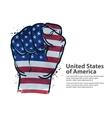 fist flag usa united states america vector image