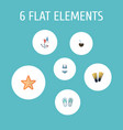 flat icons swimming cocos fly and other vector image vector image