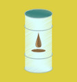 flat shading style icon barrel of oil vector image