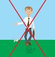 garbage is not to quit information banner vector image vector image