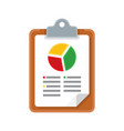 graph report icon vector image vector image