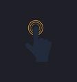 hand click computer symbol vector image vector image