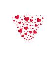 heart shapes background heart confetti burst vector image vector image