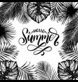 hello summer hand lettering inspirational vector image vector image