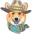 Hipster dog Pembroke Welsh corgi vector image vector image