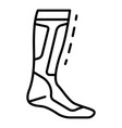 hockey sock icon outline style vector image vector image