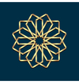 Islamic 3d golden origami round ornament vector image