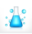 Laboratory flask with molecule vector image