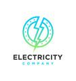 logo design circle electric vector image