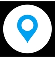 Map Marker flat blue and white colors round button vector image vector image