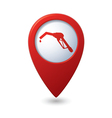 Map pointer with gas station icon vector | Price: 1 Credit (USD $1)