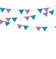 multicolored bright buntings garlands vector image vector image