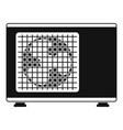 outdoor conditioner fan icon simple style vector image vector image