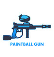 paintball gun on white vector image