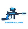 Paintball gun on white