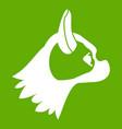 pug dog icon green vector image vector image