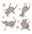 rat and cheese chinese new year symbol animal vector image