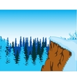 Ravine and winter wood vector image vector image