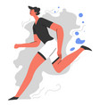 running man jogging and keeping fit healthy vector image