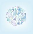 seashell pattern summer holiday marine background vector image vector image