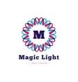 shiny flower style geometric monogram logo vector image vector image