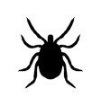 silhouette of mite top view vector image vector image