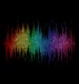 sound wave display dots vector image vector image