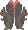 Squirrel Love vector image