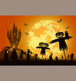 sunset backgroundfestival halloween conceptfull vector image vector image