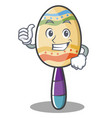 thumbs up maracas character cartoon style vector image