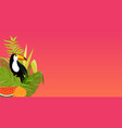 toucan bird design on background vector image