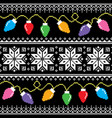 ugly jumper pattern with christmas tree lights vector image vector image
