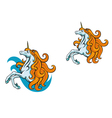 unicorn horse vector image vector image