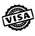 visa rubber stamp vector image vector image