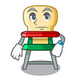 waiting baby highchair isolated on the mascot vector image